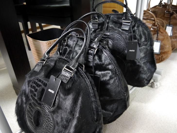 8バッグ ポニー毛革 ブラック