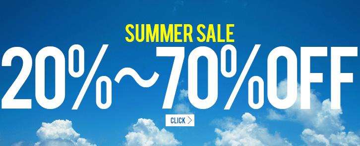 SALE 対象商品20%-70% OFF