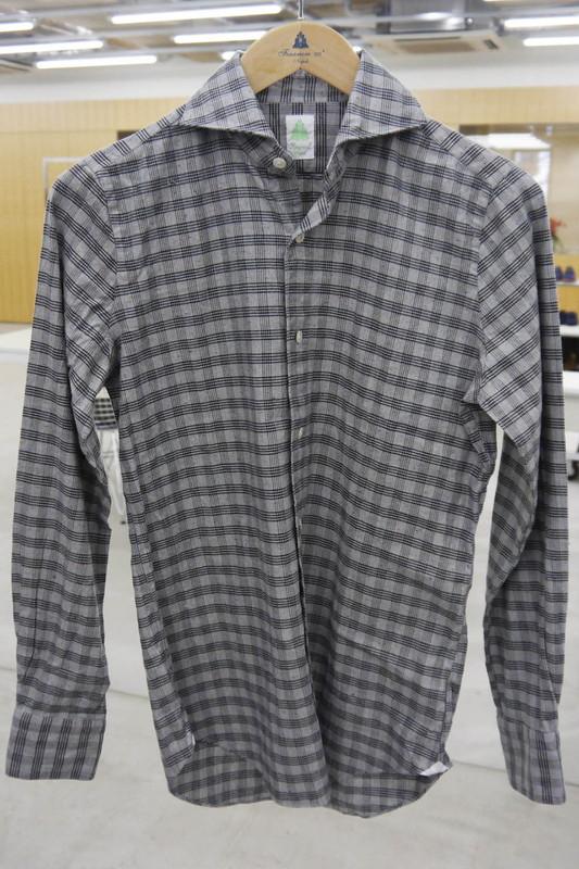 ホリゾンタルカラーシャツ 新型襟 シモーネ Simone