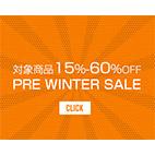 2018秋冬 Winter Sale 対象商品15-60%OFF